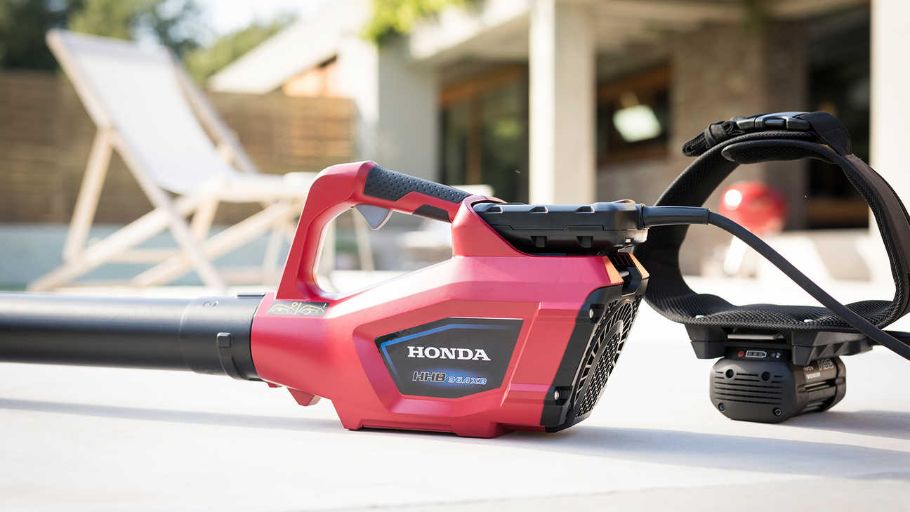 Right side view of a Honda cordless leafblower.