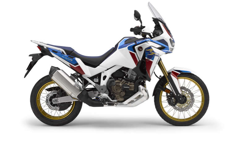 Côté droit du trail Honda Africa Twin Adventure Sports, pris en studio
